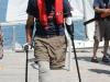 Bryan walking on dock